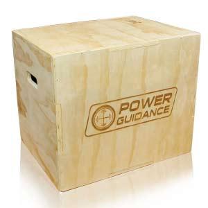 POWERGUIDANCE Caja pliométrica de Madera 3 en 1